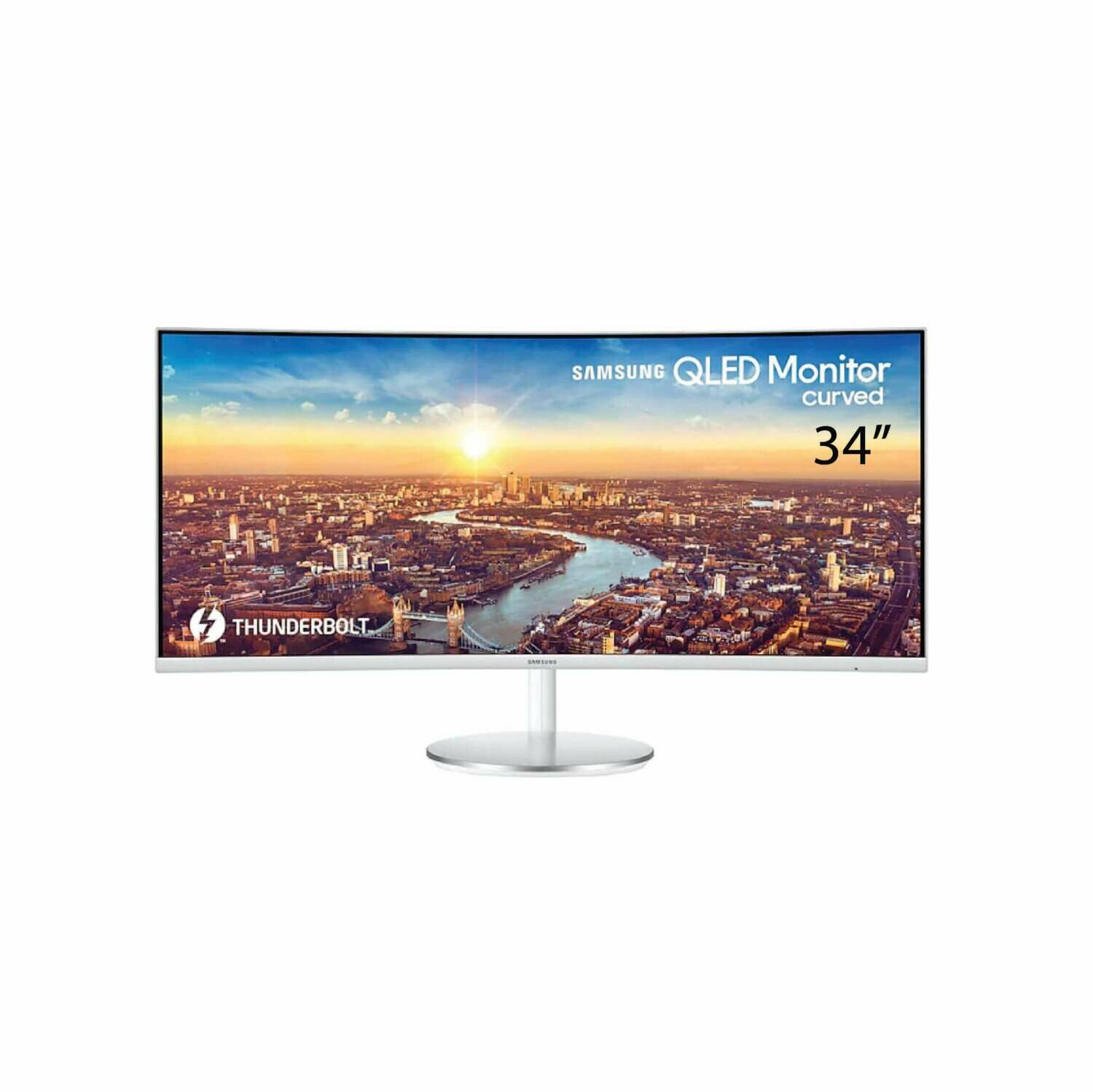 """Samsung 34"""" Thunderbolt™ 3 Curved Monitor CJ791 with 21:9 Wide Screen LC34J791WTEXXM"""