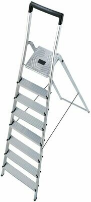 Hailo 8 Step Folding Lightweight Aluminum Platform Step Ladder  8948-001