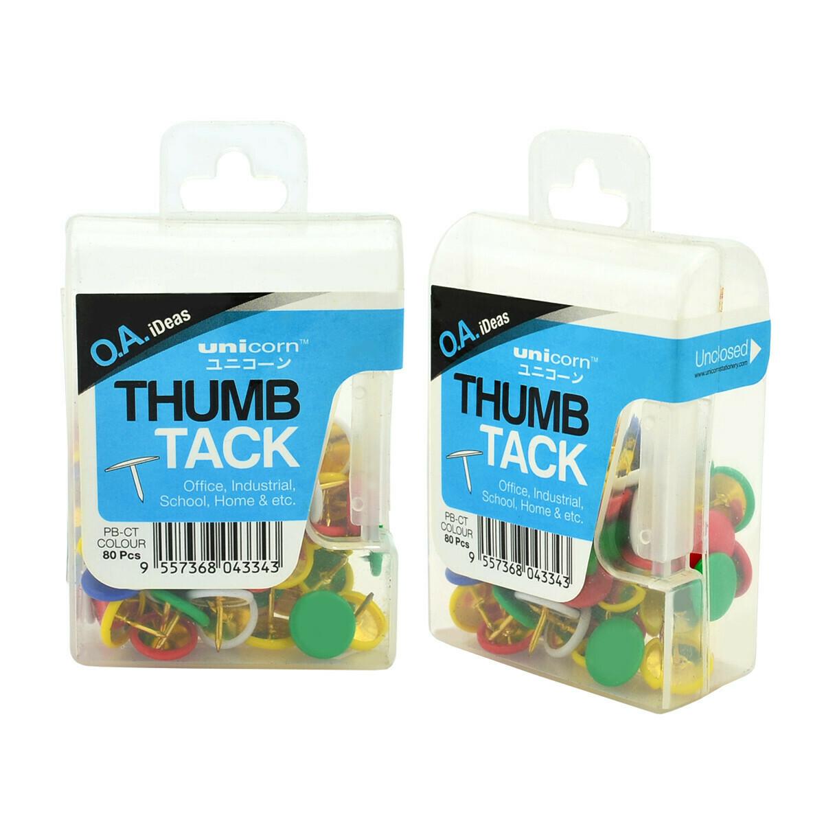 Unicorn Colur Thumb Tack PB-S (80 pcs per set)