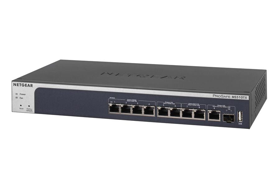 Netgear 10-Port Multi-Gigabit/10G Smart Managed Pro Switch  MS510TX-100EUS