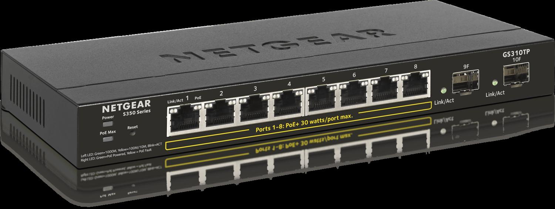 Netgear  10-Port Gigabit Ethernet Smart Managed Pro PoE Switch GS310TP-100EUS