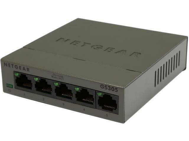 Netgear  5-Port Gigabit Ethernet Unmanaged Switch GS305-300UKS