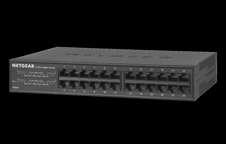 Netgear 24-Port Gigabit Ethernet Unmanaged Switch GS324-100EUS