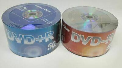 Super Disc DVD+R DVD-R 16X 4.7GB 120Min DVDR DISC 100 PCS / PACK