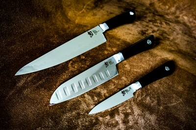 Shun Sora Knife 3 Piece Set (Paring Knife, Santoku 6