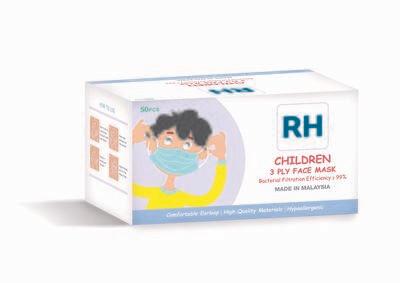 [Rentas Health] 3 PLY Children Face Mask 50pcs per box