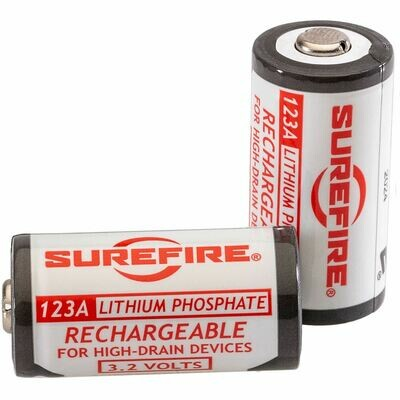 Surefire Lithium Iron Phosphate Rechargeable Batteries SFLFP123