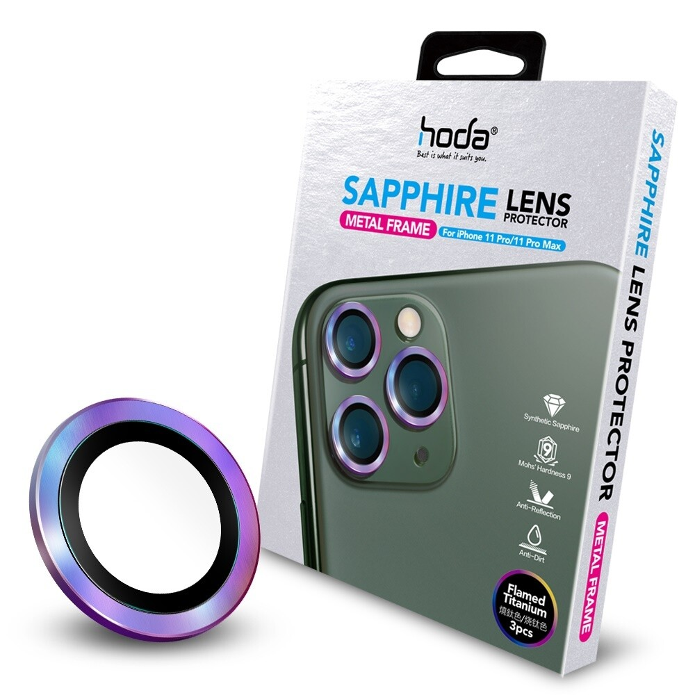 HODA Sapphire Lens Protector for Apple iPhone 11 Pro/Pro Max 3 (3 Lens)