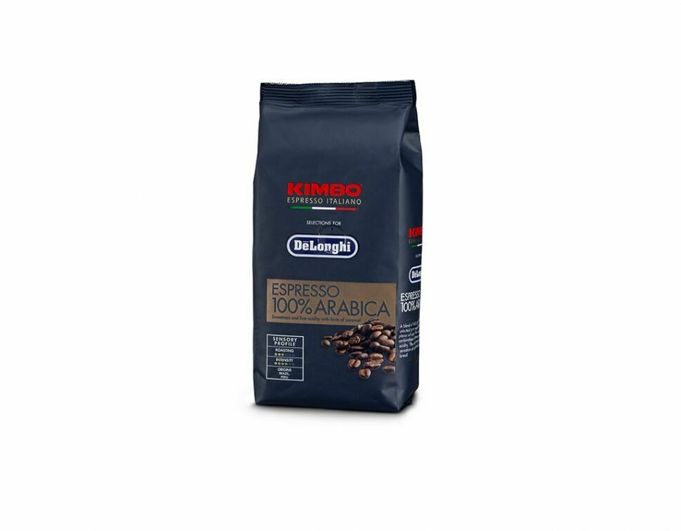 Delonghi Kimbo 100% Arabica Espresso Coffee Beans 250g