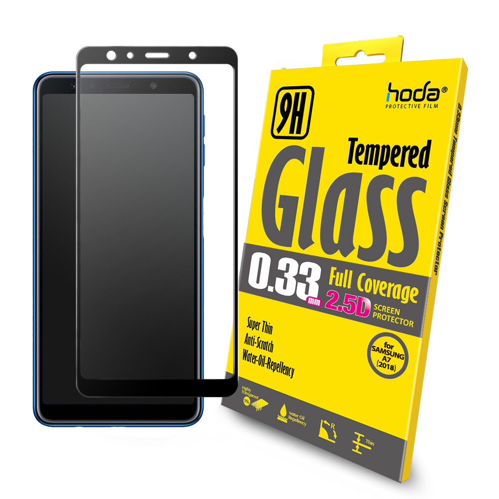 Hoda 0.33mm 2.5D Full Coverage Tempered Glass for Samsung Galaxy A7