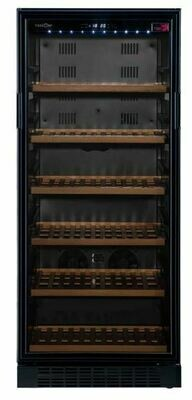 Tuscani Bellona 110 Freestanding Wine Cellar 111 Bottles Black