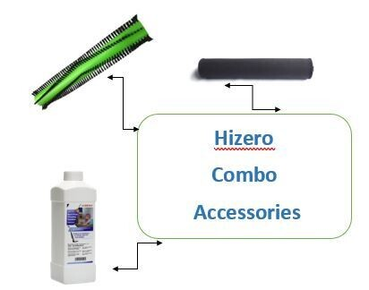 Hizero Accessories Combo  Set (Brush Roller+Cleaning Solution+Cleaning Roller) for F801 Vacuum Cleaner