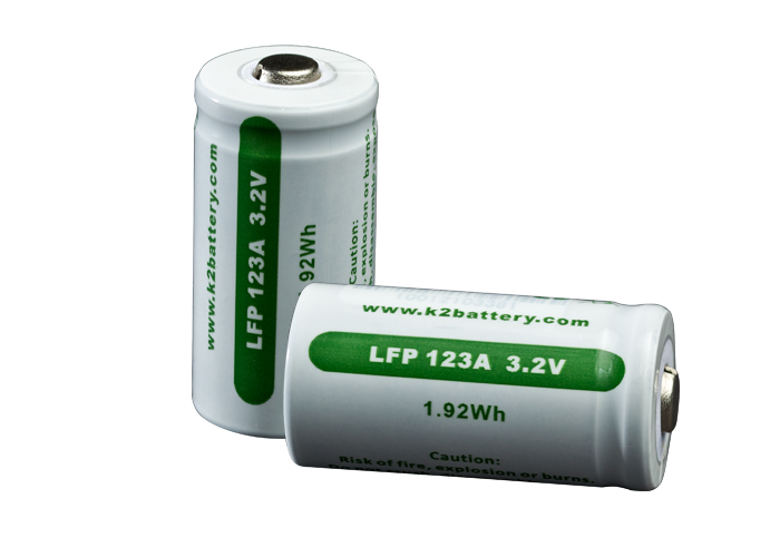 Surefire SF2R-CB Package of Two LFP 123A Rechargeable Batteries