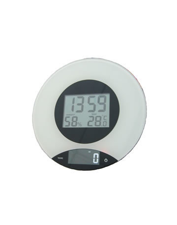 3SM Digital Kitchen Scale With Clock M-100