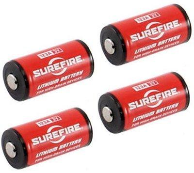 Surefire SF123A Lithium Battery (4pcs per pack)
