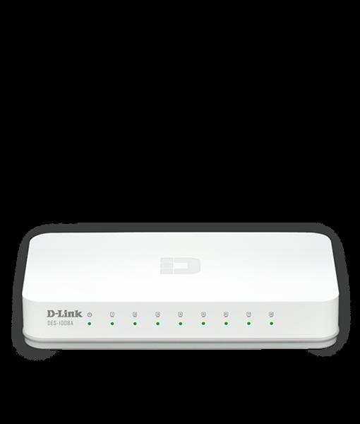 D-Link 8-Port Fast Ethernet Desktop Switch DES-1008A