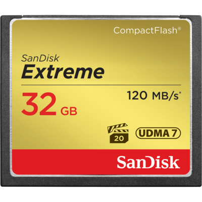 SanDisk Extreme® CompactFlash® 120MB/s 32GB Memory Card