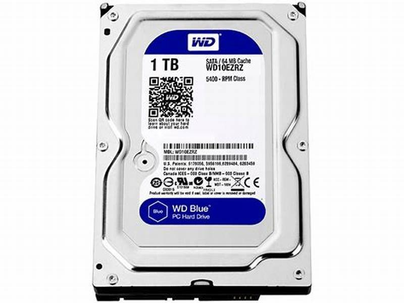 "Western Digital 3.5"" Blue PC Desktop 1TB Internal Hard Drive WD10EZRZ"
