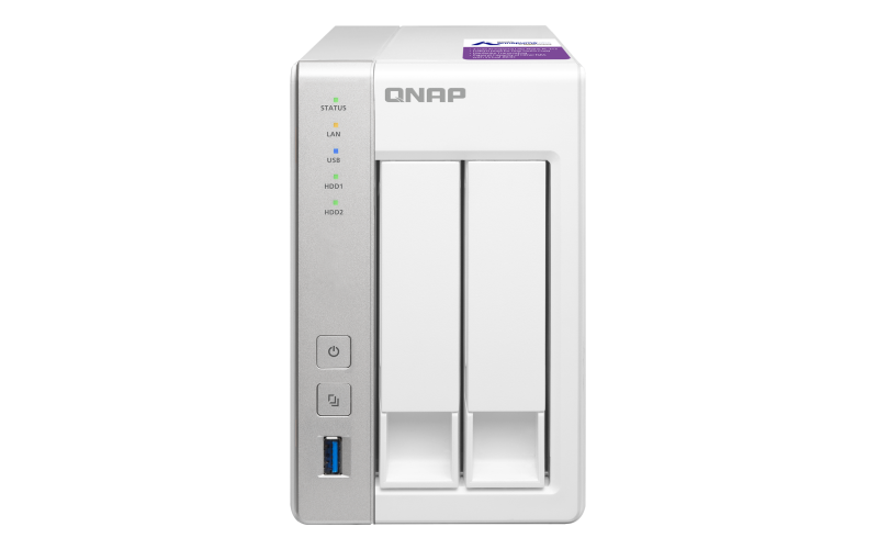 QNAP 2 Bay NAS For Small & Home Offices TS-231P
