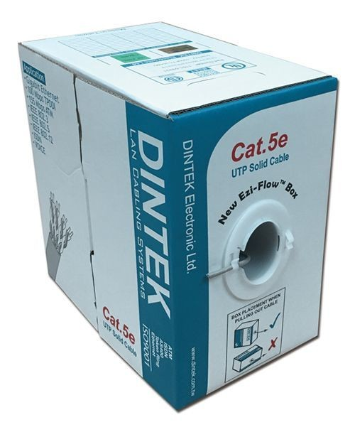 Dintek PowerPRO Cat.5e UTP 24AWG PVC Cable (305M/Box) 1101-03331