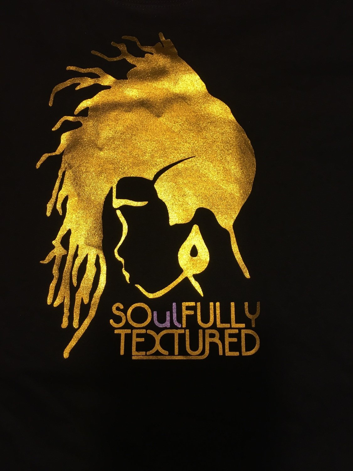"""SOulFully Textured"" Women's Metallic  T-Shirt"