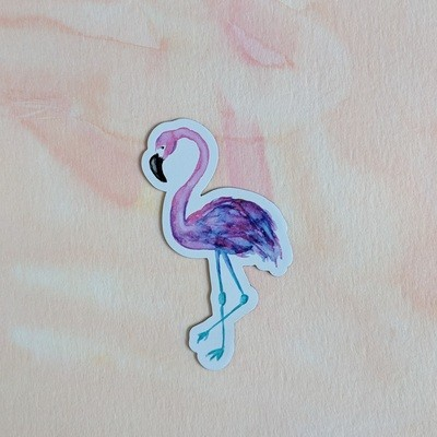 Flamingo - Durable Vinyl Magnet - Watercolor Illustration