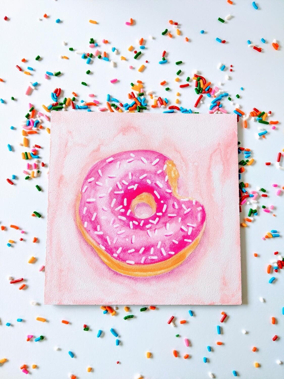 Watercolor Donut