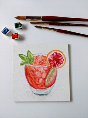 Watercolor Cocktail