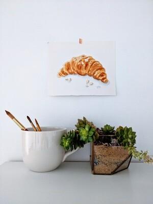 Watercolor Croissant Dreams