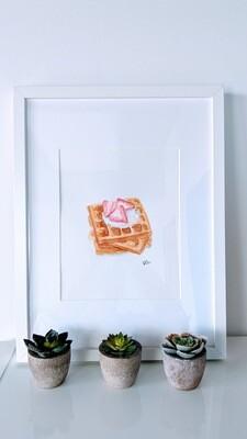 Watercolor Waffle - Breakfast of Champions