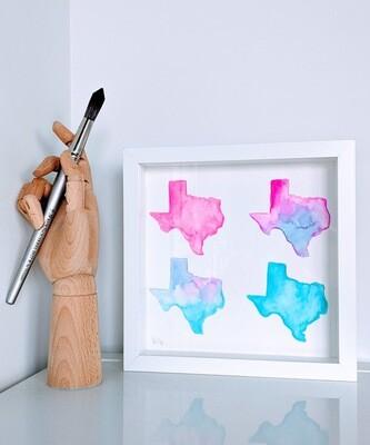 Watercolor Texas