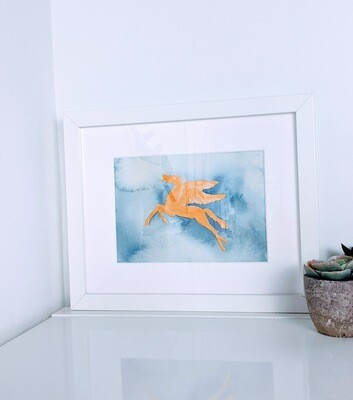 Watercolor Pegasus