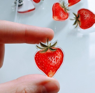 Strawberry Acrylic Pin