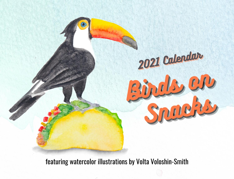 Calendar 2021: Birds on Snacks