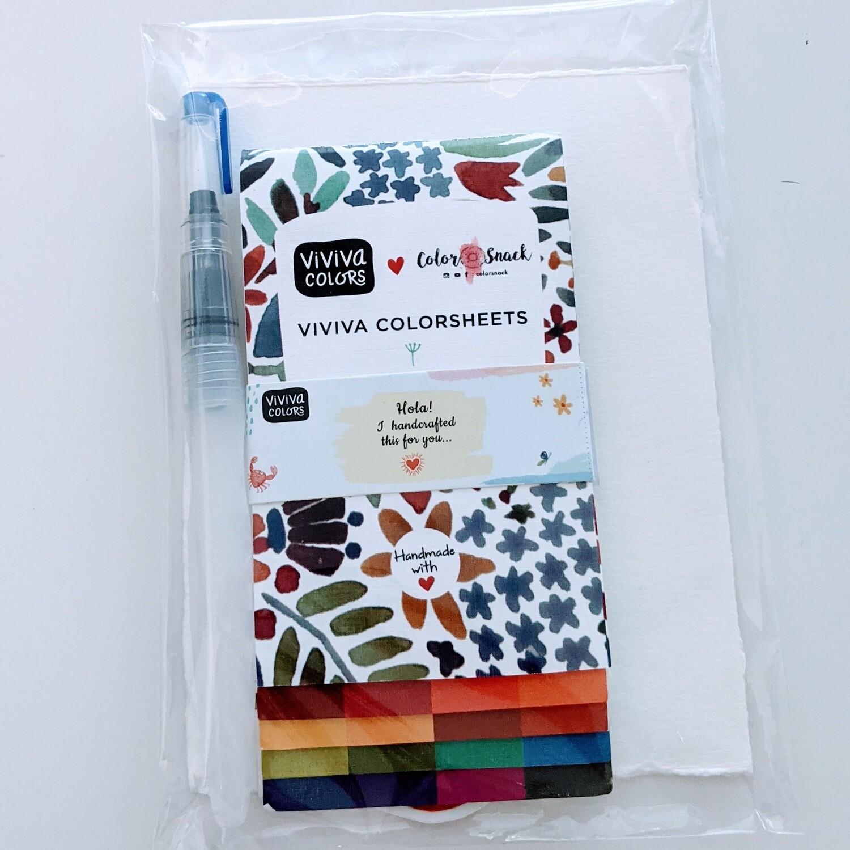 Watercolor Sheets - Watercolor Kit, VIVIVA Colorsheets