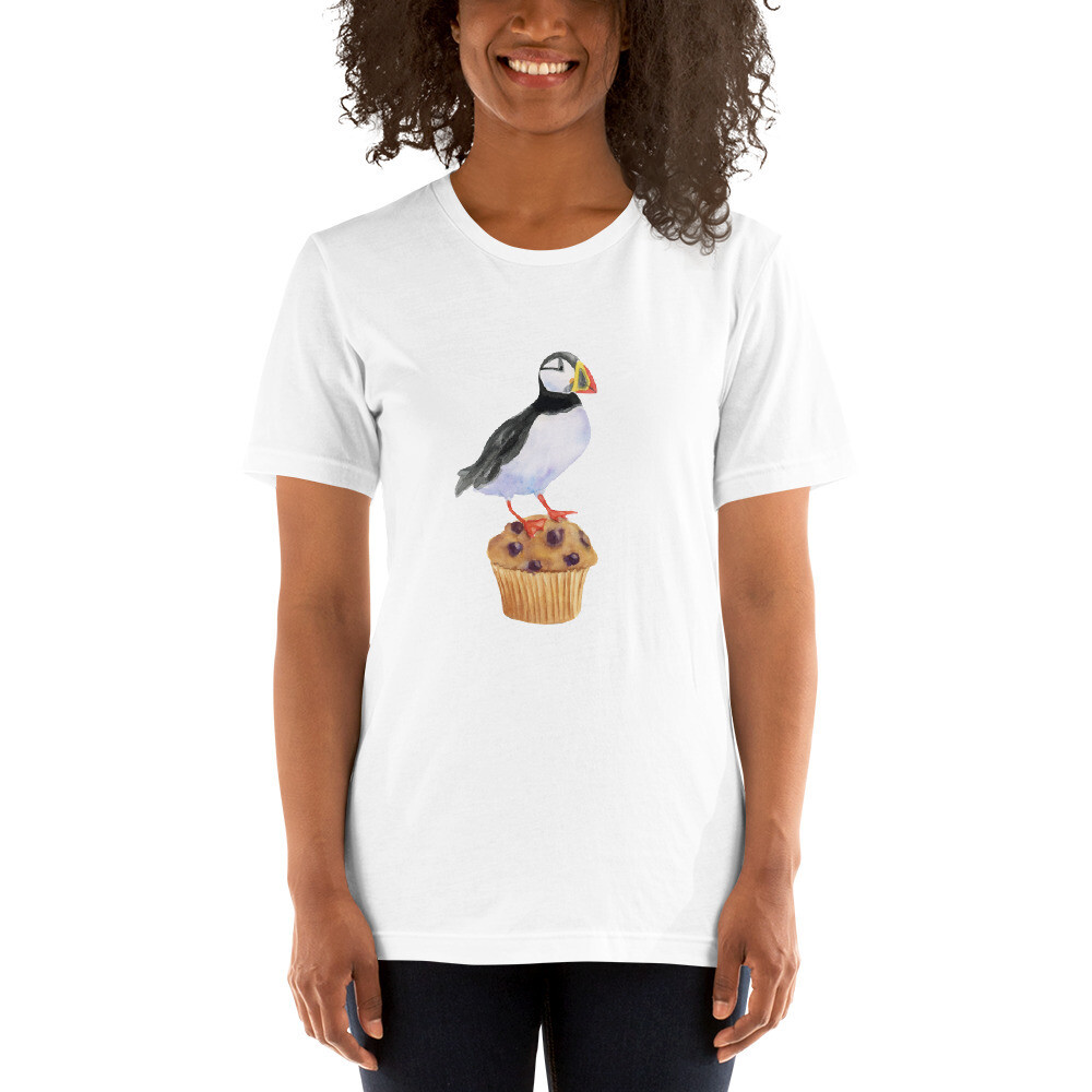 Puffin on a Muffin Short-Sleeve Unisex T-Shirt