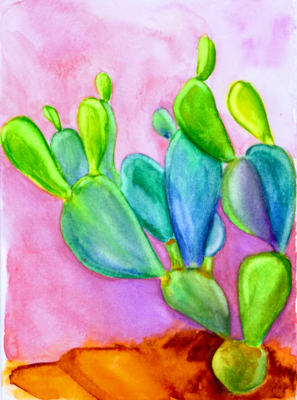 Cacti In Love - Limited Edition Watercolor Art Print