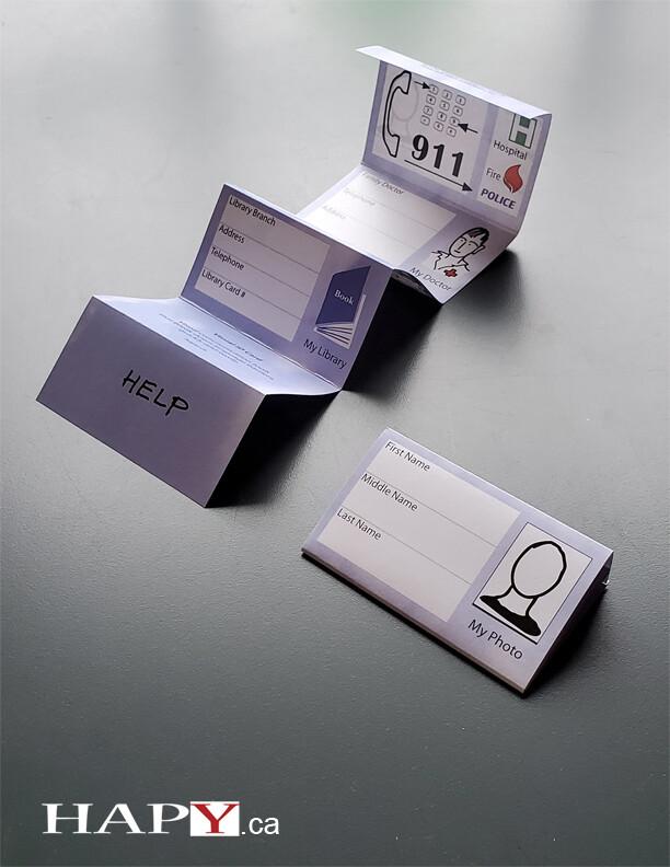 HAPY Visual ID Card