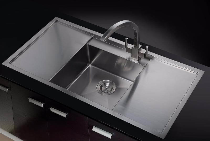 Exeter 1 Bowl Stainless Steel Sink Free Accessories Pack