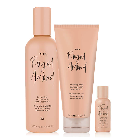 Powerful Royal Almond Set + RA Travelsize 40ml Cadeau