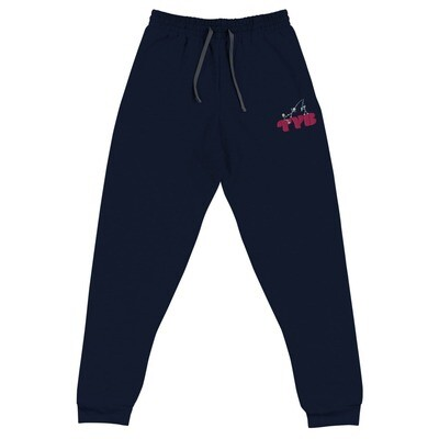 Embroidered Unisex Joggers (Pink)