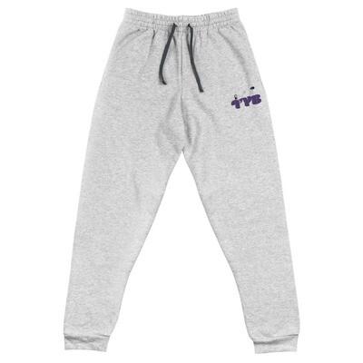 Embroidered Unisex Joggers (Purple)