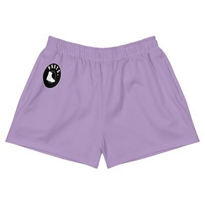 Women's Athletic Short Shorts (Purple)