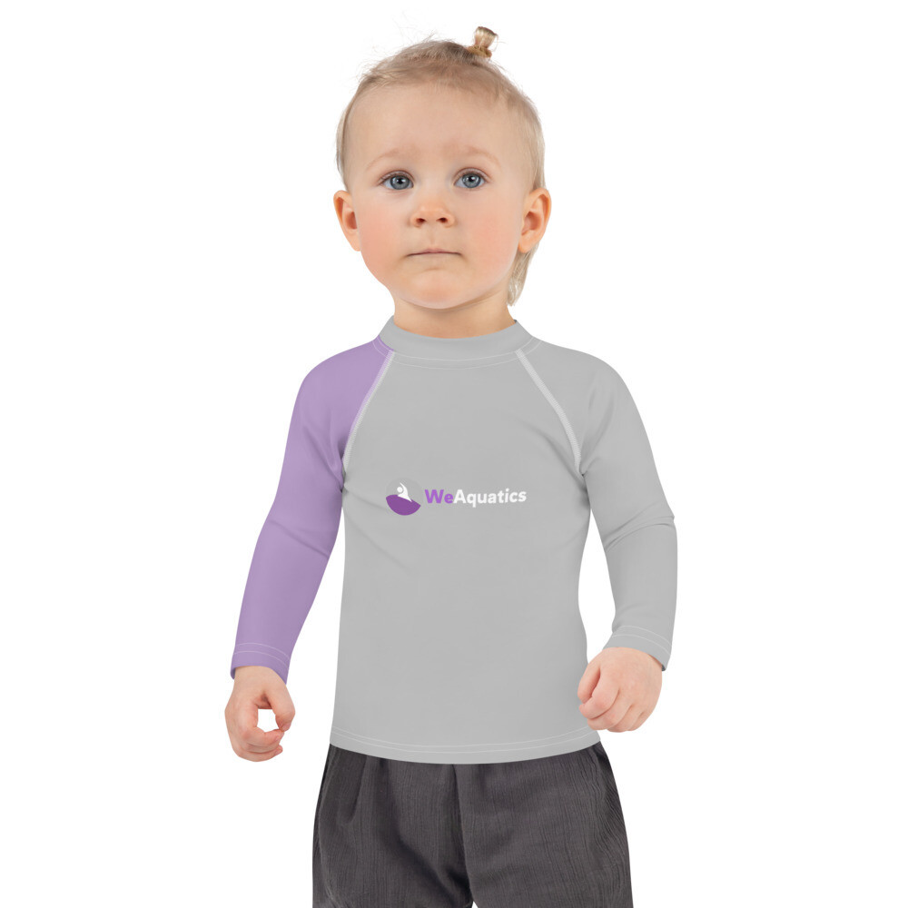 Kids Rash Guard (Grey/ Purple)