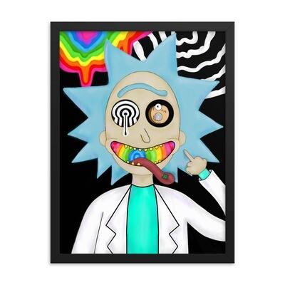 Trippy Rick Framed poster