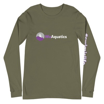 #Swimislife Unisex Long Sleeve Tee (White/Purple)