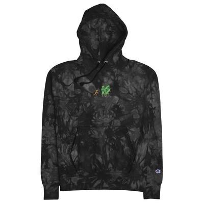 Unisex TYB x Champion tie-dye hoodie