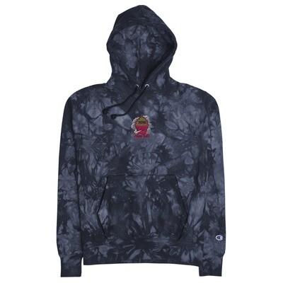 Unisex Happy Treetz x Champion tie-dye hoodie