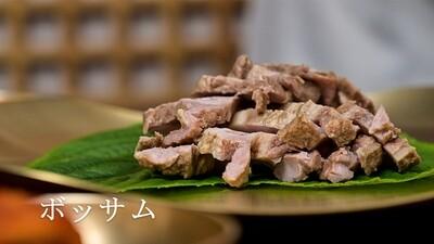 蒸し豚肉とキムチセット(ボッサム)