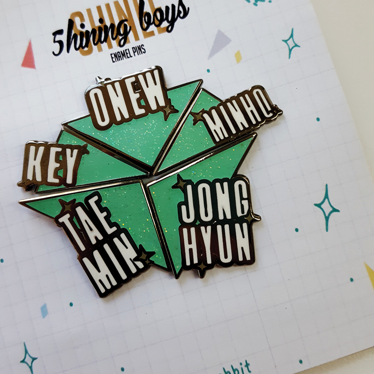 Enamel Pin: 5hining Boys
